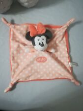 Doudou Plat  Minnie Rose Orange pois blanc HELLO noeuds Disney Nicotoy NEUF