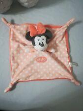 Doudou Plat  Minnie Rose Orange pois blanc HELLO noeuds Disney Nicotoy NEUF