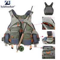 Fly Fishing Vest Pack For Men Adjustable Size Breathable Mutil-Pocket Vest