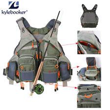 KyleBooker Fly Fishing Mesh Vest General Size Adjustable BreathableMutil-Pocket