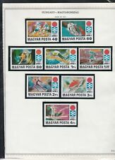 hungary issues of 1972 trains & olympics etc stamps page ref 18304