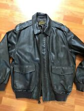 Schott Bros Inc Brown Leather Type A-2 Leather Bomber Jacket $660 Retail