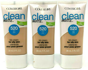 (3) Covergirl Clean Matte BB Cream For Oily Skin 1 fl oz 520 - Light