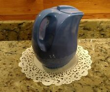 OLD BLUE HALL CHINA FOR MONTGOMERY WARD REFRIGERATOR WATER PITCHER WITH ICE LIP