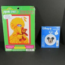 Cross Stitch - 2 Kits - Sesame Street / Friends Forever & Disney Mickey Mouse