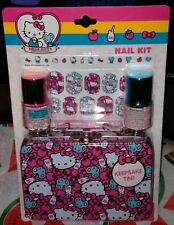 NIP SANRIO Classic Hello Kitty w Mouse Milk Design Mini Nail Kit + Keepsake Tin!