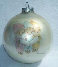 New listing Vintage 1975 Hallmark Caroling Trio Betsey Clark Glass Christmas Ornament B2