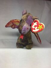 Retired TY Beanie Baby - Scorch The Dragon - # Stamp - Tag Typo Error
