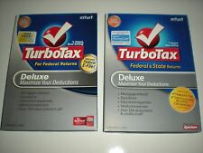 Turbotax 2008 Deluxe (Federal only) with 2009 Deluxe & State. Sealed new boxes.
