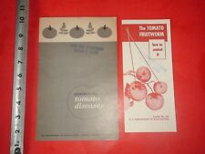 JB526 Vintage LOT Gardening Brochure & Booklet Tomato Disease Fruitworms