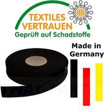 10m Gurtband 25mm Breit - ca. 1,6mm stark - Schwarz - PP Taschengurt Taschenband