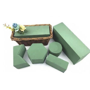 Green Flower Mud Foam Brick Blocks Sponge Floral Arrangement Artificial Flower