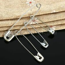 About 100Pcs Silver Safety Pins Findings Accessories Sewing Clothes DIY Craft