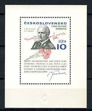 Cecoslovacchia 1975 SG #MS 2255 generale ludvik Svoboda MNH M / S #A 52976