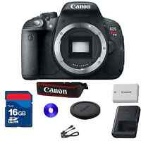 Canon EOS Rebel T5i 18.0 MP Digital SLR - Black (Body Only) with 16 GB SD Card