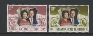 British Antarctic Territory (BAT) - 1972, Royal Silver Wedding set - MNH-SG 42/3