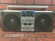 Vintage Boombox General Electric Ge 3-6035A Am/Fm Radio Cassette Parts Or Repair