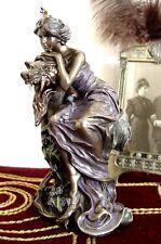 Art Nouveau Figurine Sculpture De Femme Belle Epoque Fille Antique Statue