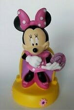 Disney Minnie Mouse Plastic Coin Bank Pink Polka Dot Dress Bow