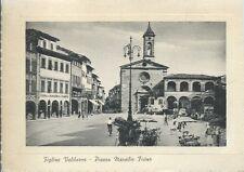 Figline Valdarno Piazza Marsilio Ficino - Firenze - Viaggiata 1958 passepartout