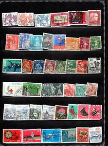 SWITZERLAND ASSORTMENT OF 42 ITEMS ALL GENUINE & DIFFERENT LOT #2021SW15