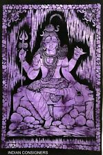 Poster Tapestry Wall Hanging Lord Shiv Hippie Indian Hindu God Shiva Door Cotton