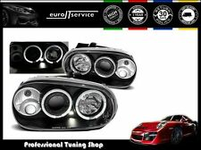 NUOVO COPPIA FARI ANTERIORI LAMPADE LAMPS LPVW07 VW GOLF 4 1997-2003 ANGEL EYES