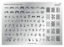 Original KONAD XL Collection Plate Stamping Schablone Nr. 2 für Nailart