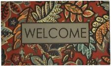 "Mohawk Home 18"" X 30"" Empire Welcome Jacobean Door Mat In Red"