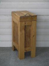 Wood Trash Can Kitchen Garbage Can Rustic Wood Trash Bin Golden Oak 13 Gallon