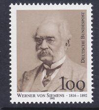 Germany 1768 MNH 1992 Werner von Siemens - Electrical Engineer Issue Very Fine