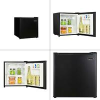 1.7 cu. ft. freezerless mini fridge in black | magic chef temperature control