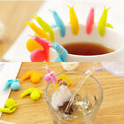 portable Cup Candy Colors Snail Shape Tea Bag Holder Silicone Clips accessories