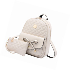 I IHAYNER Girls Bowknot 2-PCS Fashion Backpack Cute Mini Leather Purse for Women