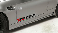 Power Unleashed Vinyl Decal sport car racing sticker emblem logo BLACK/RED Pair