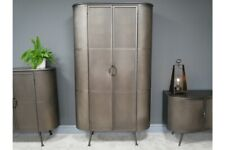 Tall Oval Industrial Metal Storage  Cabinet 2 Doors 3 Compartments