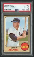 1968 Topps Mickey Mantle #280 HOF PSA 6 - Centered & High-End