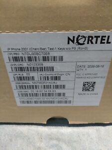 Nortel i2001 BCM IP Phone Phone Charcoal W/Silver Bezel new in box