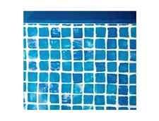 Liner guscio di ricambio per piscina Gre blu mosaicato rotondo 550x132 cm