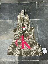 Calvin Klein BNWT Sleeveless Hoodie Sleepwear Khaki Green M