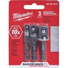 Shockwave Hex Shank to Socket 3-Piece Socket Adapter Set by Milwaukee 48-32-5033