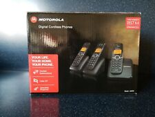 Motorola Digital Cordless Phones Three Handsets DECT 6.0 Model L603M