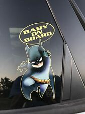 Batman Baby on Board - Baby Batman Vinyl Sticker Window Car Bumper Sticker