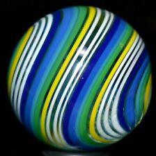 "JODY FINE GLASS MARBLE/1.336""-SCOUT TRIPLE-LARGER BOULDER-ROYAL,LIME,BLUE JEANS+"