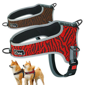 Large Dog Harness No Pull Adjustable Pet Reflective Oxford Soft Wlaking Vest