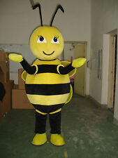 New Professional Bee Mascot Costume Unisex Adult Size Fancy Dress