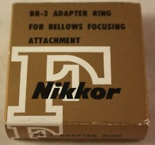 New in Box Nikkor Japan BR3 BR-3 F Adapter Ring for Bellows Focusing Attachment