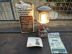 Vintage Coleman 222 Peak 1 1/84 Single Burner Camping Backpacking Lantern