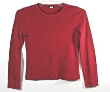 J.Crew Red Junior Small Thermal Long Sleeve Stretch Shirt