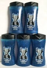 5 pack AXE SHOCK Glacier Water + Deep Sea Mint + Menthol SHOWER GEL 1.69 oz each